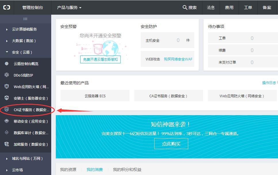 开启HTTPS访问:申请免费SSL证书